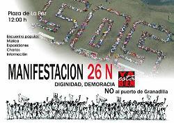 Manifestación en Tenerife