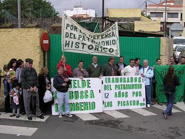 Acto reivindicativo en Telde por Los Picachos