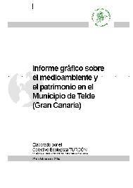 Recordando nuestro <i>Informe gráfico sobre el medioambiente y el patrimonio en el municipio de Telde</i> de 2004