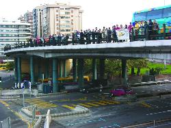 Senderistas solidarios : El Calvario organizó una ruta hacia San Juan de Dios