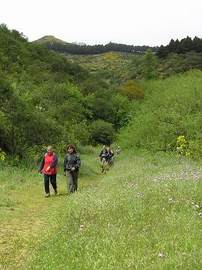Finalizada con éxito la ruta al Barranco de La Mina