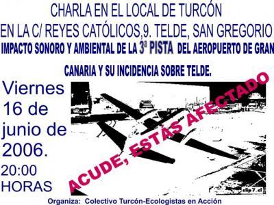 Campaña Informativa sobre Impacto Ambiental y Social de la 3ª Pista del Aeropuerto de Gran Canaria