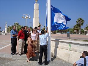 Melenara luce de nuevo su Bandera Azul