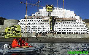 Greenpeace denuncia que en 2006 se ha duplicado el número de permisos para construir en la costa