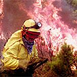 Incendio forestal en la zona de Cueva Grande, en la localidad grancanaria de San Mateo