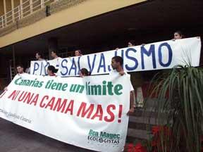 Protesta ante la visita de Zapatero