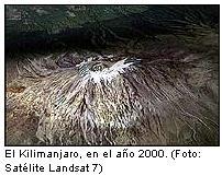 El Kilimanjaro se queda sin nieve por efecto del calentamiento global