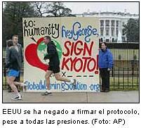 Entra en vigor el Protocolo de Kioto, pese a la oposición de EEUU