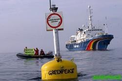 Greepeace actúa contra un arrastrero lituano que pescaba en las proximidades marinas del Atlántico norte