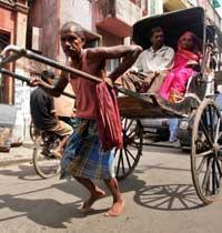 Prohiben los rickshaws de las calles de Calcuta